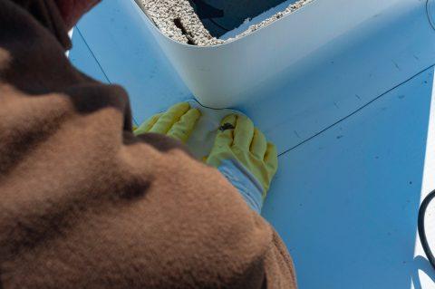 pose d'une membrane TPO sur un toit