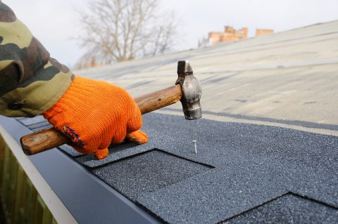 toit avec dalle en béton